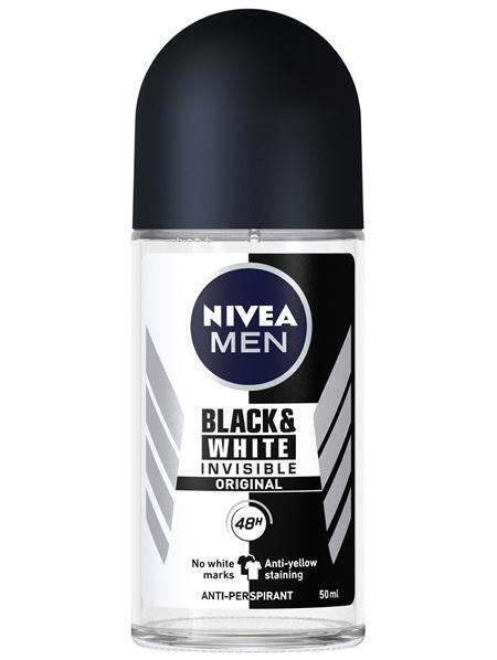 NIVEA MEN Invisible for Black & White Original Roll-on Deodorant 50ml