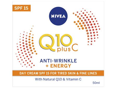 NIVEA Q10 Plus Vitamin C Anti-Wrinkle + Energy Day Cream Moisturiser SPF15 50ml