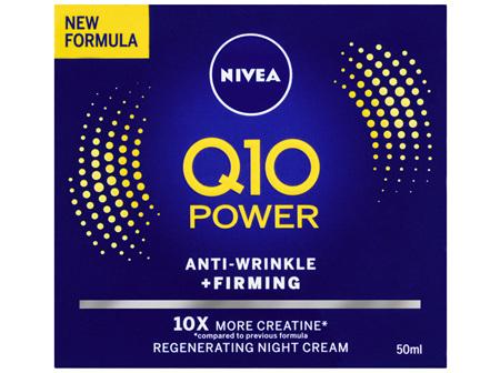 NIVEA Q10 Power Anti-Age Anti-Wrinkle + Firming Night Cream Moisturiser 50ml