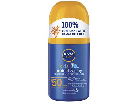NIVEA SUN Kids Caring Roll On Sun Lotion SPF50 65ml