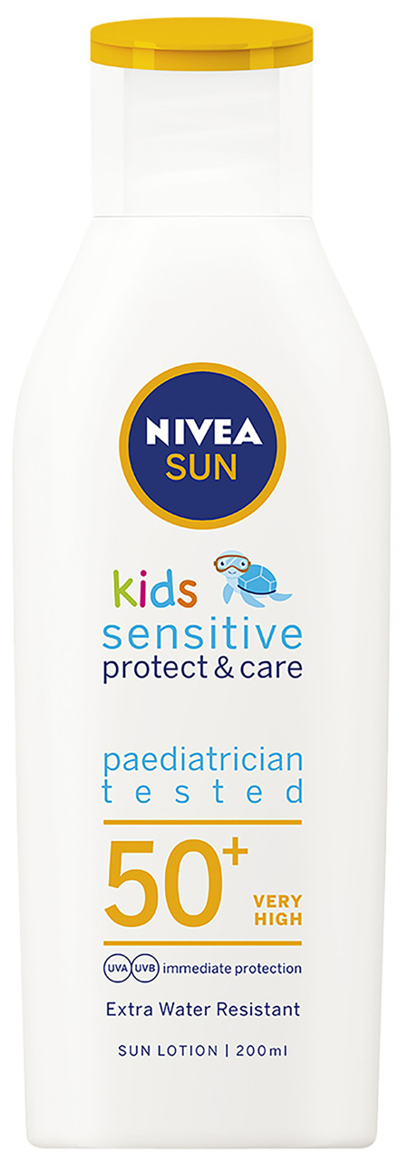 NIVEA SUN Kids Sensitive Protect & Care Lotion SPF 50+ 200mL