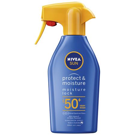 NIVEA SUN Protect & Moisture Moisturising Sunscreen Lotion SPF50+ 300m
