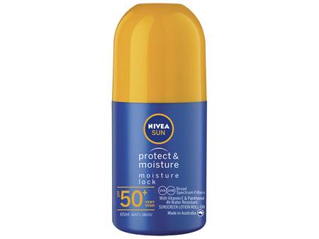 NIVEA SUN Protect & Moisture Moisturising Sunscreen Roll-On SPF50+ 65m