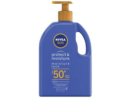 NIVEA SUN Protect & Moisture Moisturising Sunscreen Pump SPF50+ 1L