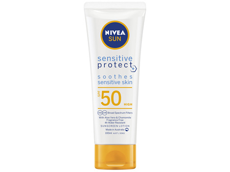NIVEA SUN Sensitive Protect SPF50 Sunscreen Lotion 100ml