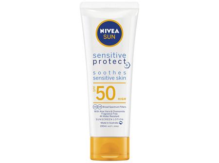 NIVEA SUN Sensitive Protect SPF50 Sunscreen Lotion 100ml