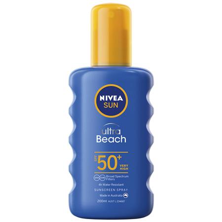 NIVEA SUN Ultra Beach Sunscreen Spray SPF50+ 200ml