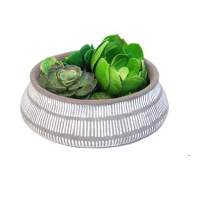 Noely Cement Planter Pot 28x8.5cm