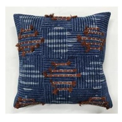 Noida Cushion - Blue & Rust - 45x45cmh