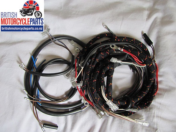 Norton Commando 750 1967 to 1968 Cloth Braided Wiring Loom Harness