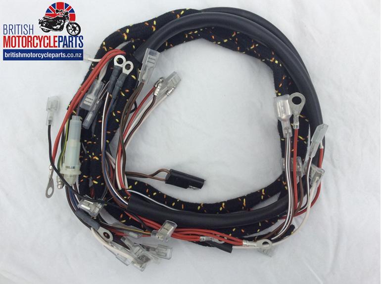Norton Commando Wiring Loom - Cloth Braided - British motorcycle Parts - NZ