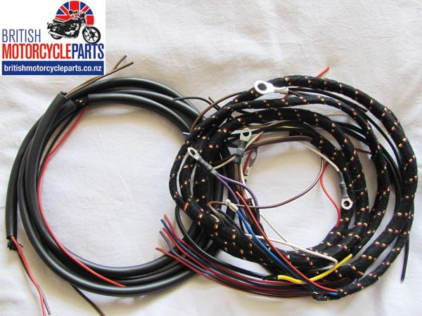 Norton Featherbed Frame Twin Wiring Cloth Loom Harness Magneto Dynamo 1955 on