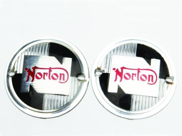 Norton Round Tank Badges 1957 to 1968 Moulded Plastic