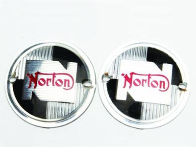 NM25217 Norton Tank Badges 1957-68 - Pair