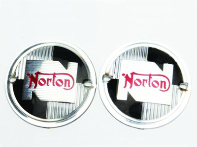 NM25217 Norton Tank Badges 1957-68 - Pair