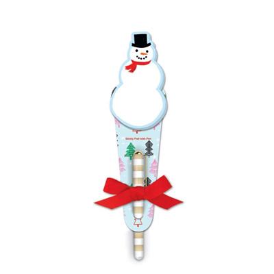 Note Pad & Pen - Snowman