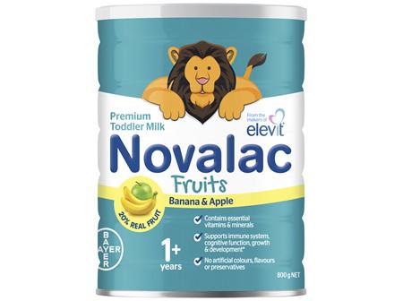 Novalac Fruits Premium Toddler Milk with Banana and Apple 800g
