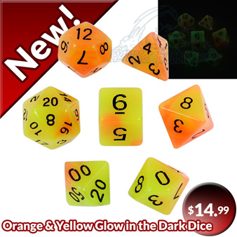Now Available Orange and Yellow Glow