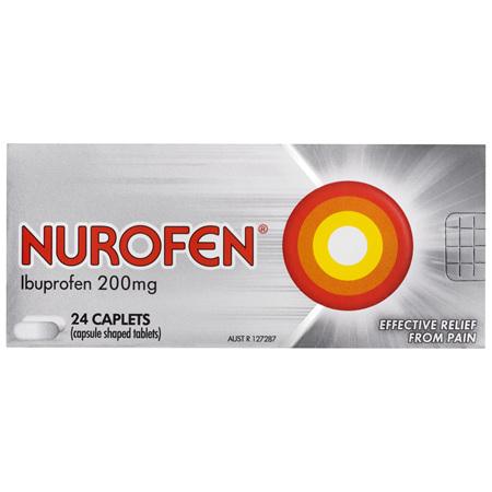 Nurofen Caplets 200mg 24 Pack