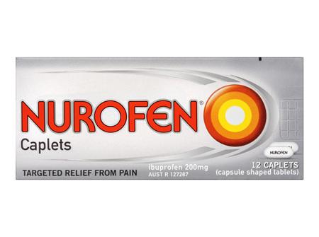 Nurofen Caplets Pain Relief 200mg 12 Pack