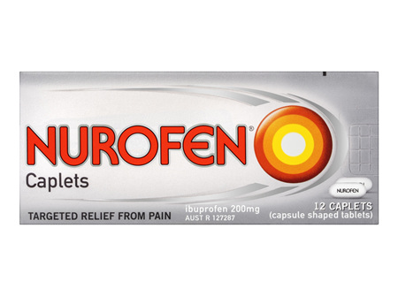 Nurofen Caplets Pain Relief 200mg 12 Pack