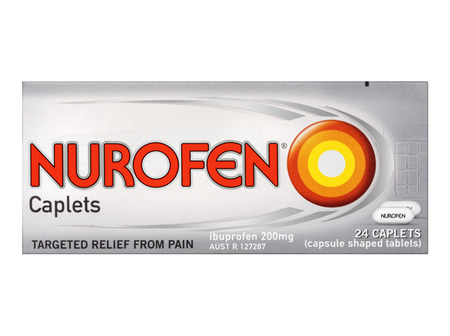 Nurofen Caplets Pain Relief 200mg 24 Pack