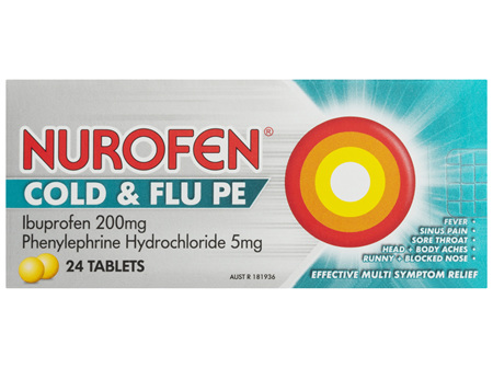 Nurofen Cold & Flu 24 Tablets