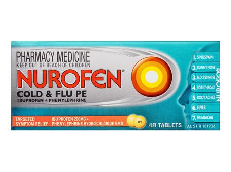 Nurofen Cold & Flu PE Tablets 48 Pack