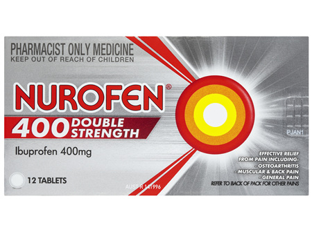 Nurofen Double Strength Pain and Inflammation Relief Tablets 400g Ibuprofen 12 pack