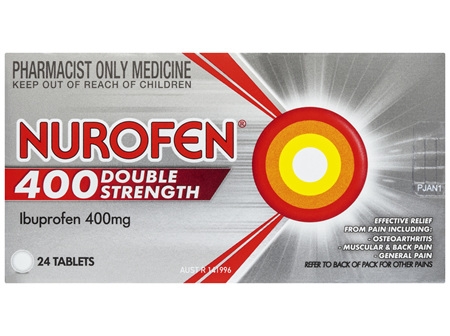 Nurofen Double Strength Pain and Inflammation Relief Tablets 400g Ibuprofen 24 pack