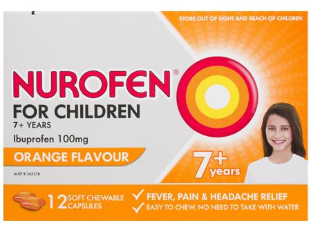 Nurofen For Children 12 Chewable Capsules