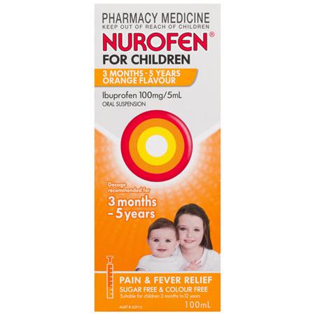 Nurofen For Children 3 Months - 5 Years, Orange 100mL