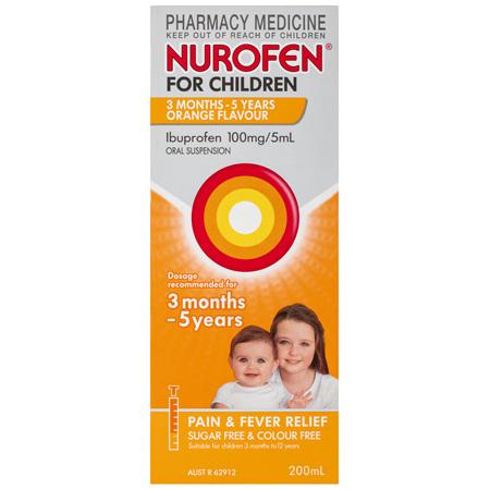 Nurofen For Children 3 Months - 5 Years, Orange 200mL