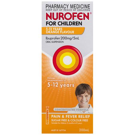 Nurofen For Children 5 - 12 Years, Orange 200mL