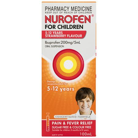 Nurofen For Children 5 - 12 Years, Strawberry 100mL