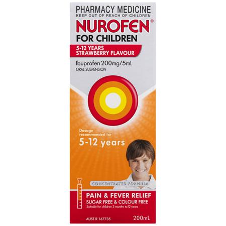 Nurofen For Children 5 - 12 Years, Strawberry 200mL