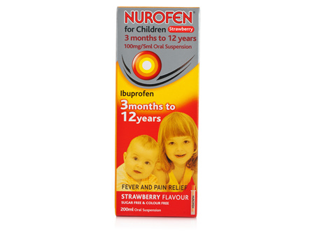 Nurofen For Children Suspension 4 Kids Strawberry 200 ml