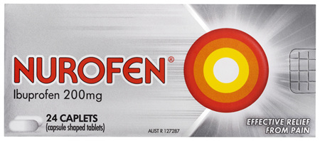 Nurofen Pain and Inflammation Relief Caplets 200mg Ibuprofen 24 pack