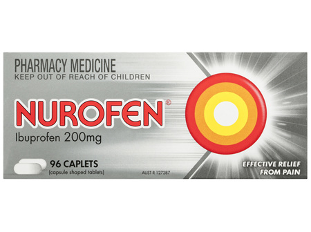 Nurofen Pain and Inflammation Relief Caplets 200mg Ibuprofen 96 pack