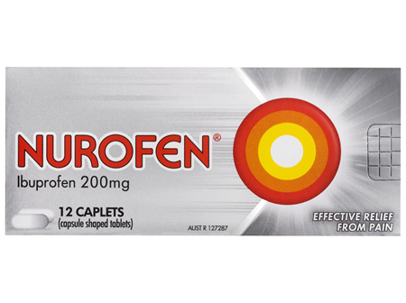 Nurofen Pain and Inflammation Relief Caplets 200mg Ibuprofen 12 pack