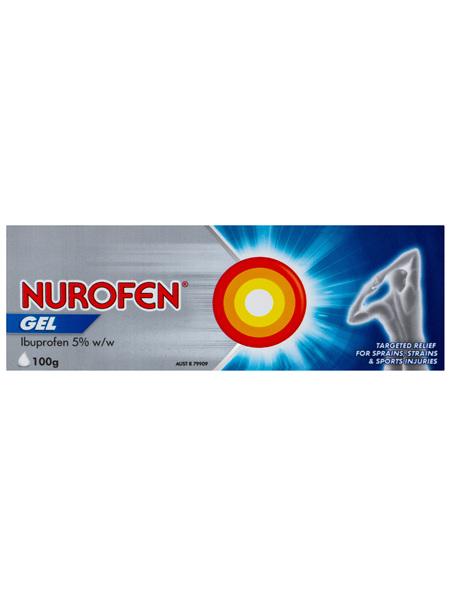 Nurofen Pain and Inflammation Relief Gel 5% Ibuprofen 100g