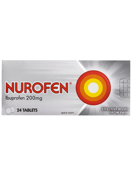 Nurofen Pain and Inflammation Relief Tablets 200mg Ibuprofen 24 pack