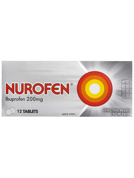 Nurofen Tablets 12s 200mg Ibuprofen anti-inflammatory pain relief