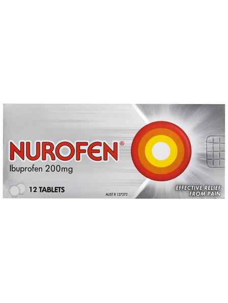 Nurofen Tablets 12s 200mg Ibuprofen anti-inflammatory pain relief
