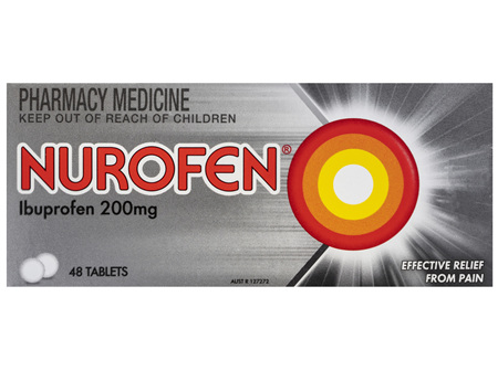 Nurofen Tablets 48s 200mg Ibuprofen anti-inflammatory pain relief