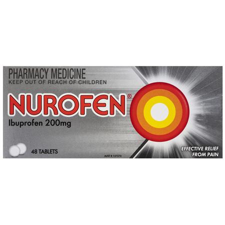 Nurofen Tablets 48s 200mg Ibuprofen anti-inflammatory pain relief