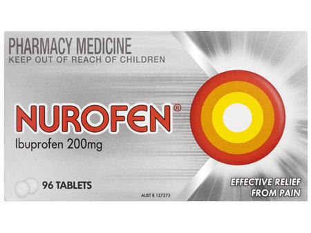 Nurofen Tablets 96s 200mg Ibuprofen anti-inflammatory pain relief
