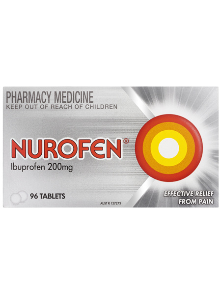 Nurofen Tablets 96s 200mg Ibuprofen anti-inflammatory pain relief