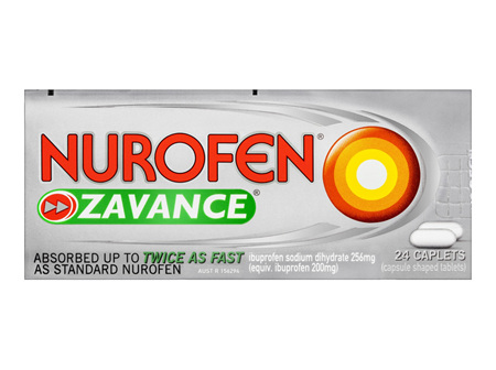 Nurofen Zavance Caplets Pain Relief 256mg 24 Pack