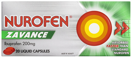 Nurofen Zavance Fast Pain Relief Liquid Capsules 200mg Ibuprofen 20 pack